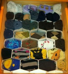 Socks organizer, Socks organizing
