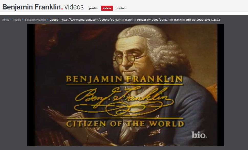 Ben Franklin Bio Video